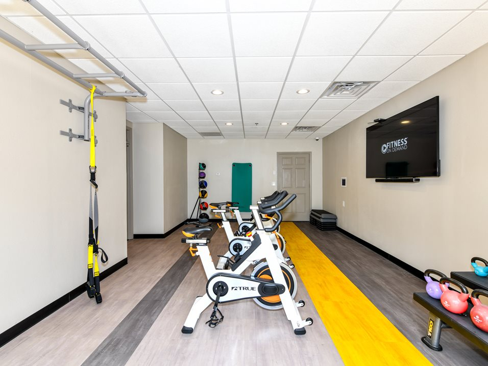 TRX, Kettlebells, and Indoor Cycle Bikes at The Park at Forest Hill Apartments in Memphis, Tennessee