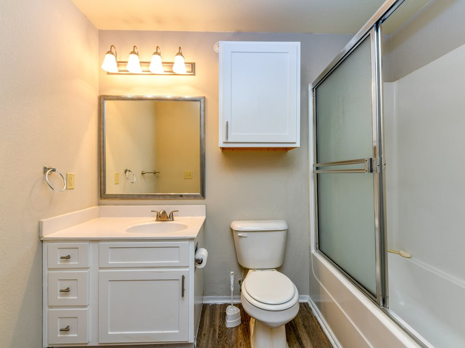 Single Sink Vanity at The Park at Forest Hill Apartments in Memphis, Tennessee
