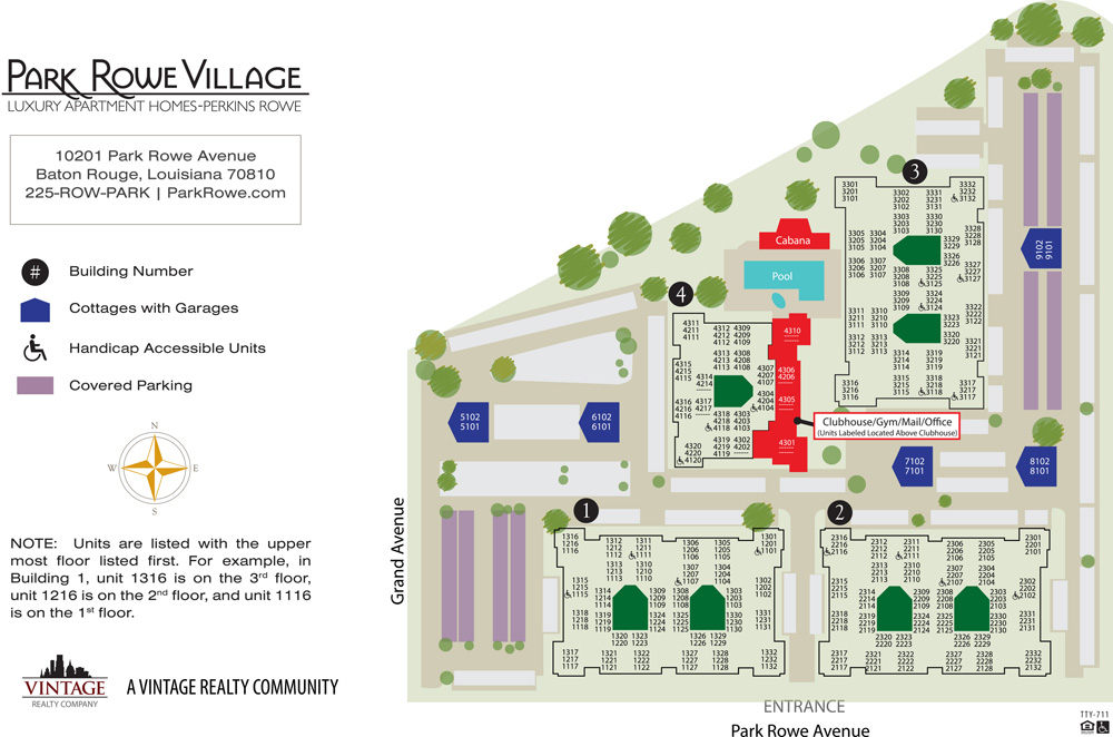 Park Rowe Village Site Plan