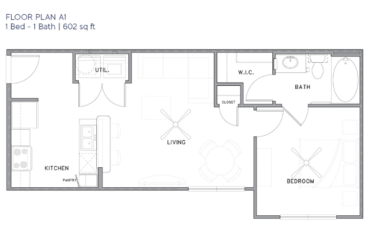 Park Rowe Village - Floorplan - A1