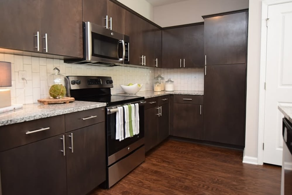 Stainless Steel Appliances at Park Rowe Village Apartments in Baton Rouge, Louisiana