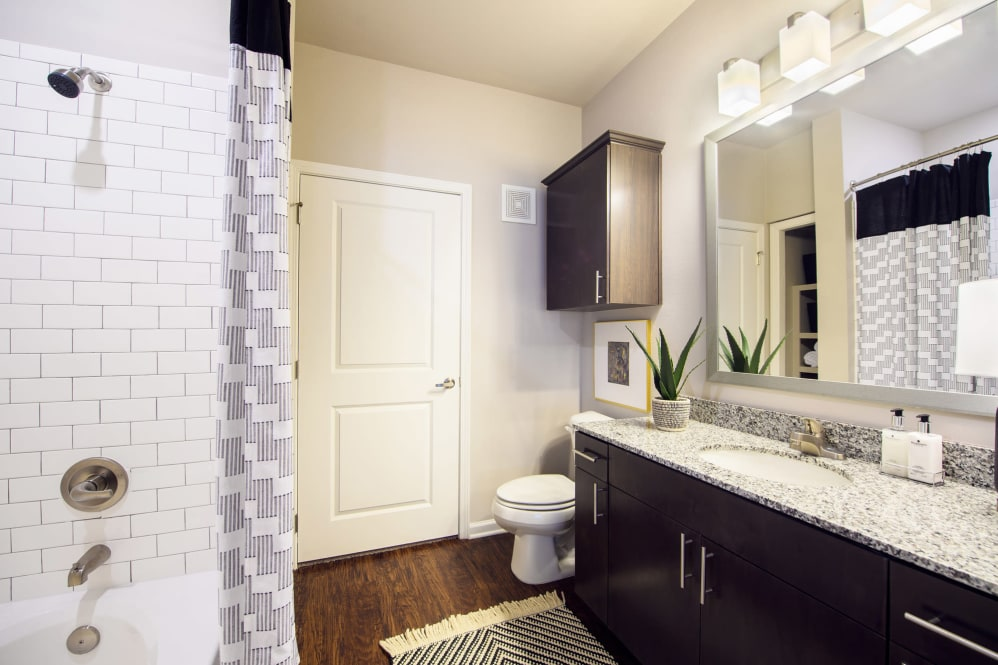 Bathroom Vanity at Park Rowe Village Apartments in Baton Rouge, Louisiana