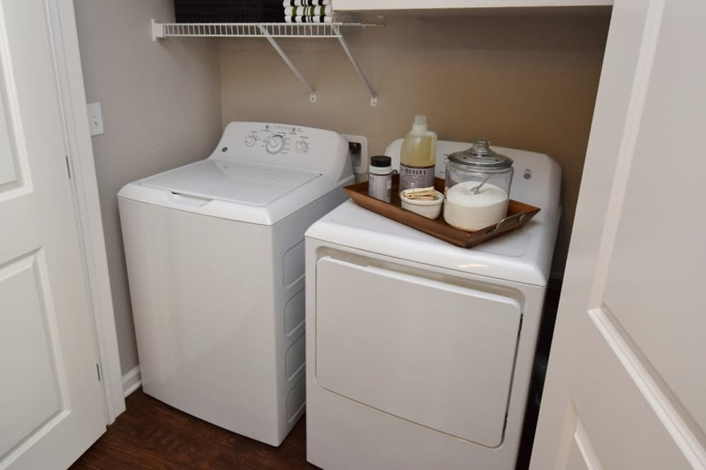 Washer and Dryer at Park Rowe Village Apartments in Baton Rouge, Louisiana