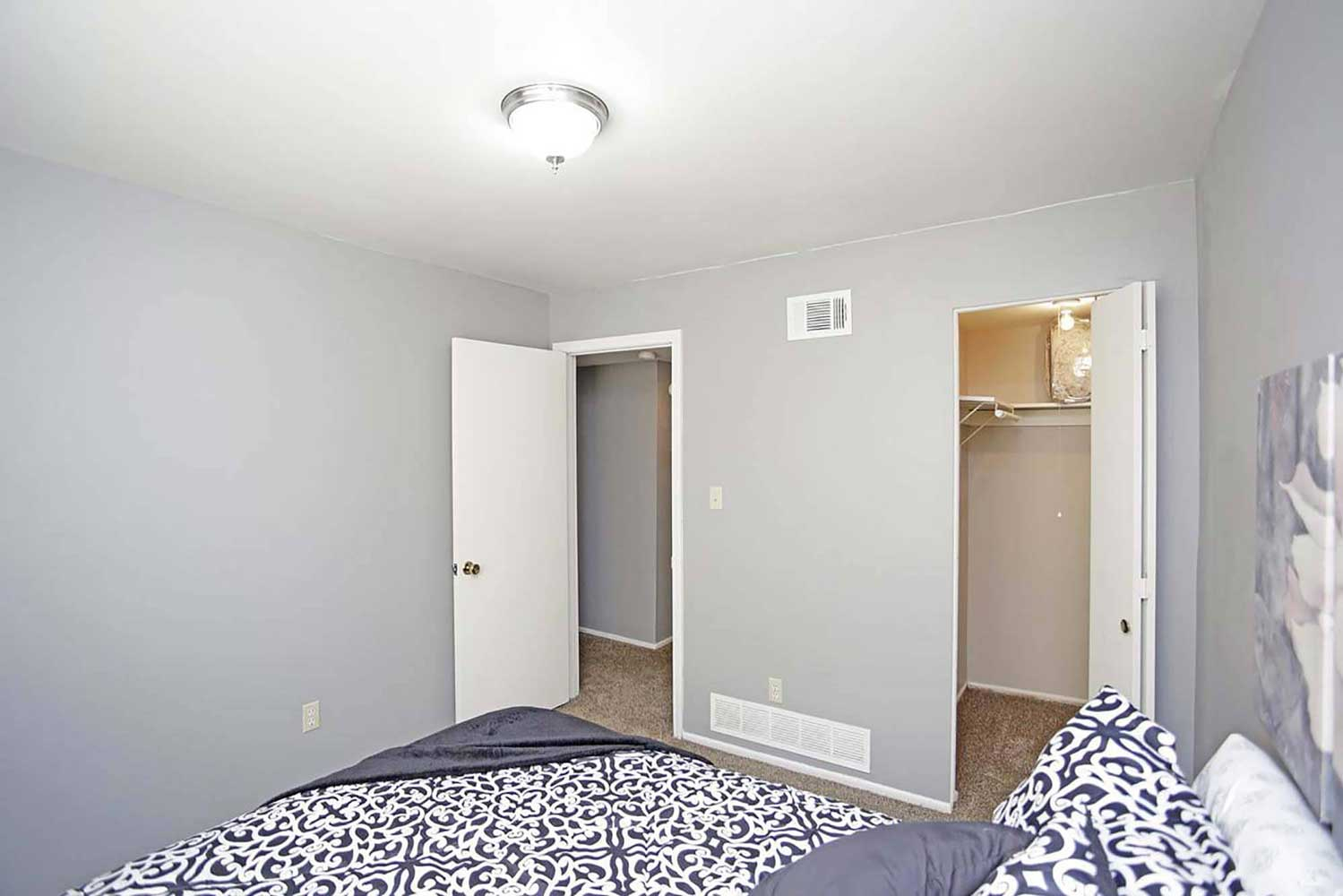 Walk-In Closets at Parkville Place Apartments in Parkville, MO
