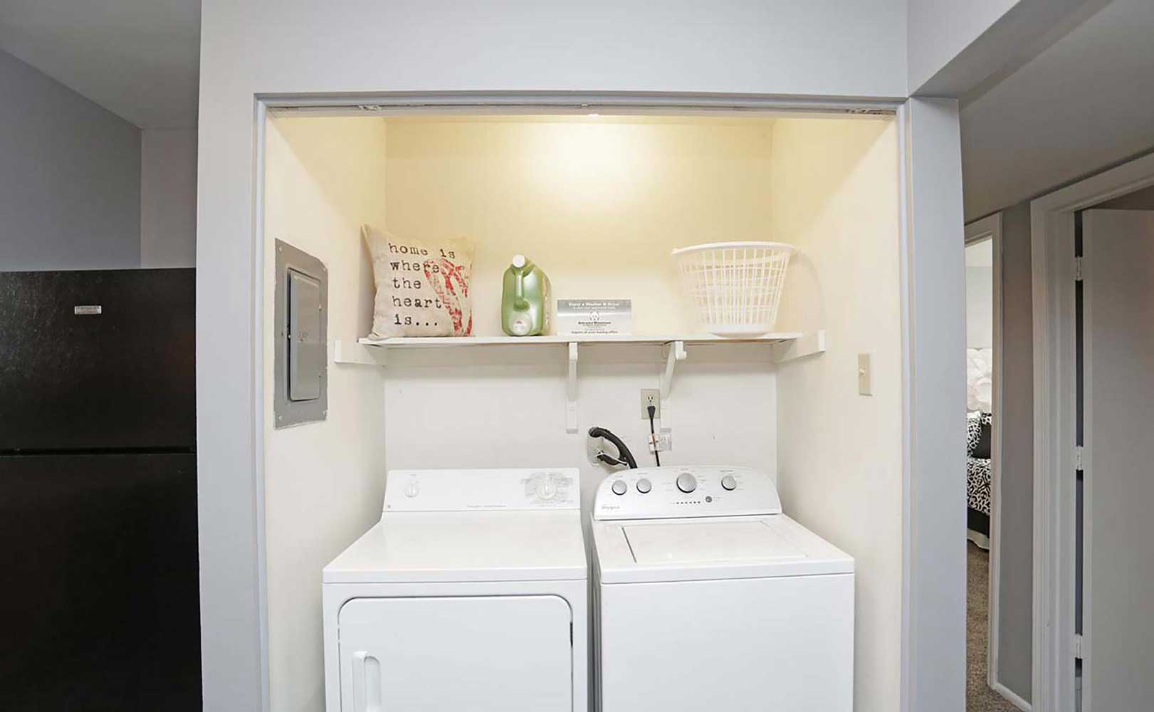 Washer and Dryer Hookups at Parkville Place Apartments in Parkville, MO