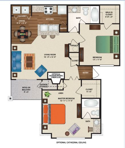 Patterson Place Apartments - Floorplan - Bristol Full Deluxe