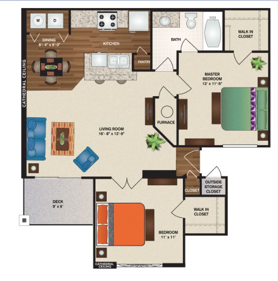 Patterson Place Apartments - Floorplan - Edinburgh Full Deluxe