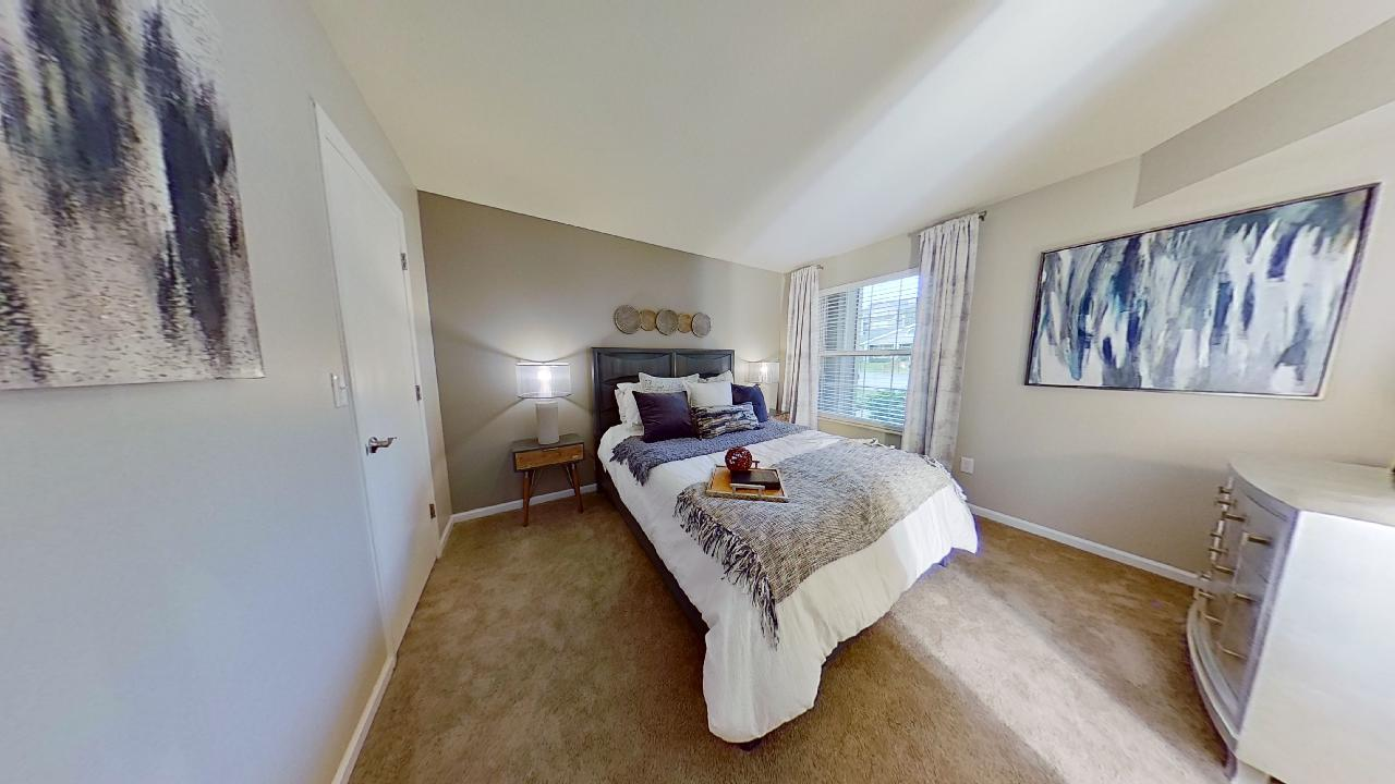 Bedroom at Patterson Place Apartments in Saint Louis, Missouri