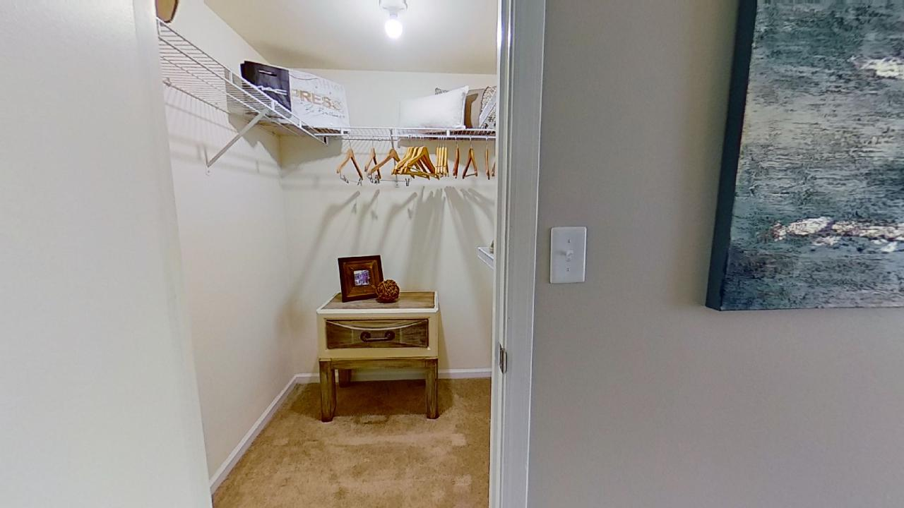 Walk In Closet at Patterson Place Apartments in Saint Louis, Missouri