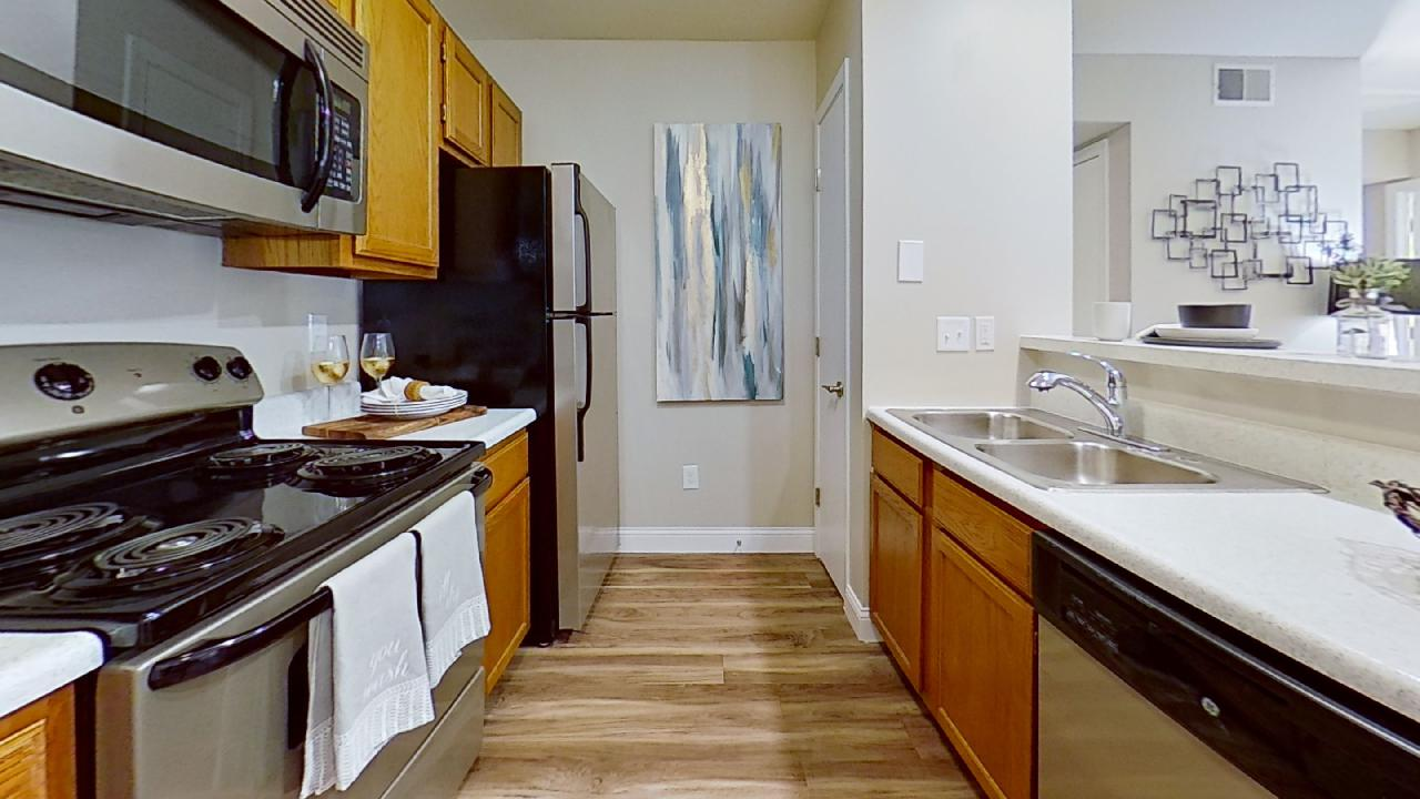 Fully equip Kitchen at Patterson Place Apartments in Saint Louis, Missouri