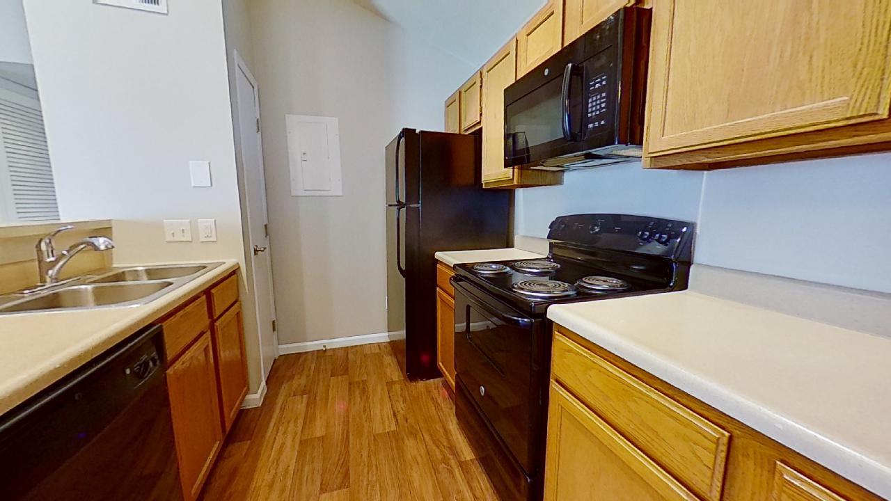 Kitchen at Patterson Place Apartments in Saint Louis, Missouri