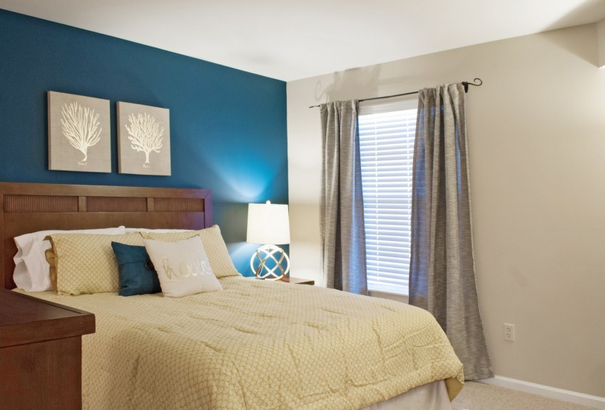 Bedroom at the Patterson Place Apartments in Saint Louis, MO