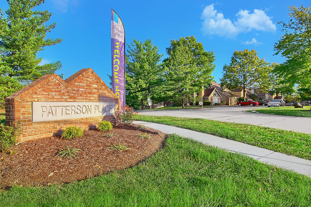 Welcome Sign at Patterson Place Apartments in Saint Louis, Missouri