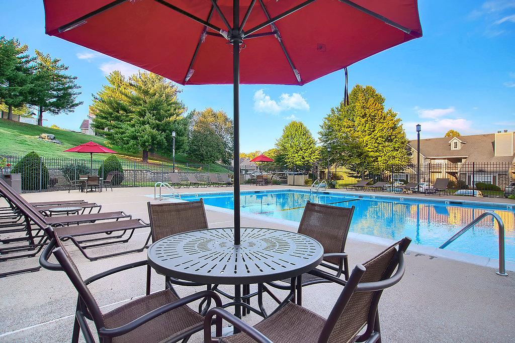Pool Umbrella at Patterson Place Apartments in Saint Louis, Missouri