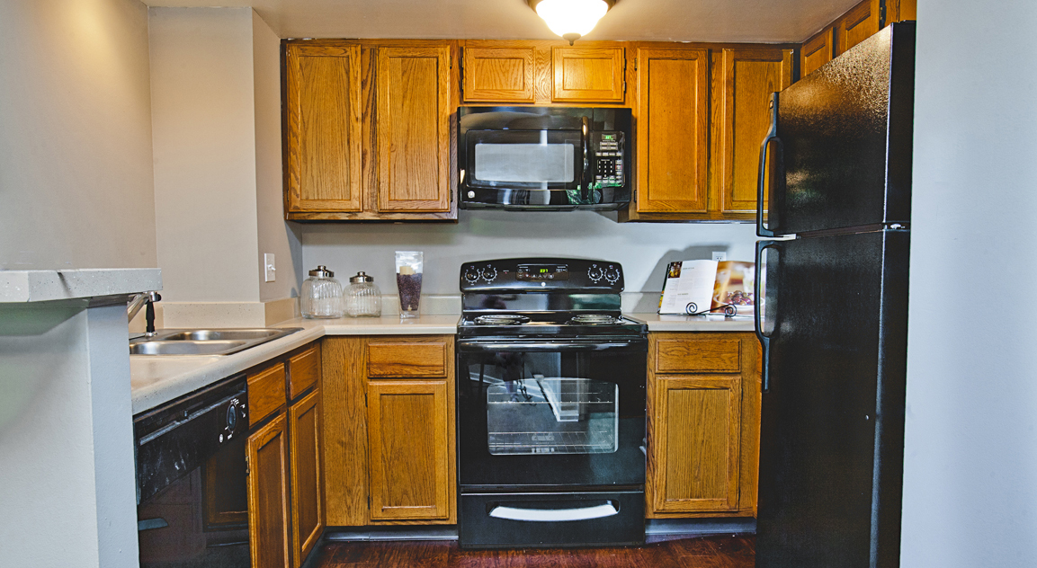 Kitchen at the Patterson Place Apartments in Saint Louis, MO
