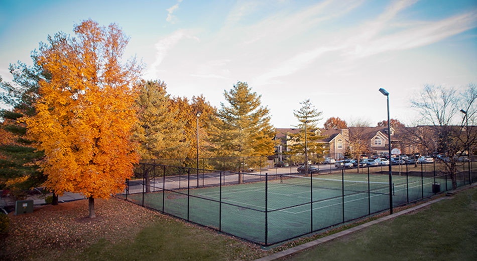 Tennis Court at the Patterson Place Apartments in Saint Louis, MO