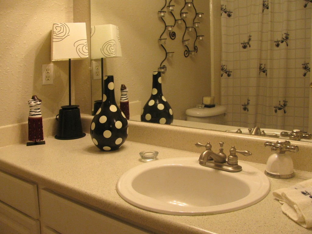 Stylish Bathrooms at The Residences at Mesa Ridge Apartments in Garland, Texas