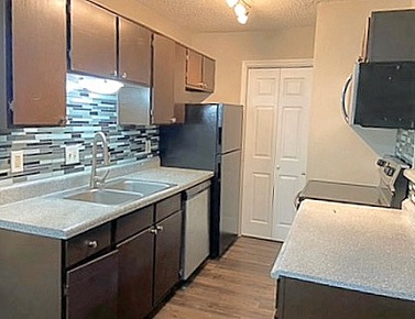 Kitchen Pantry at The Residences at Mesa Ridge Apartments in Garland, Texas