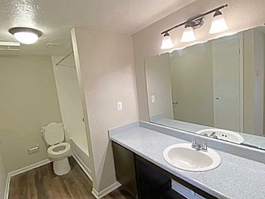 Spacious Bathrooms at The Residences at Mesa Ridge Apartments in Garland, Texas