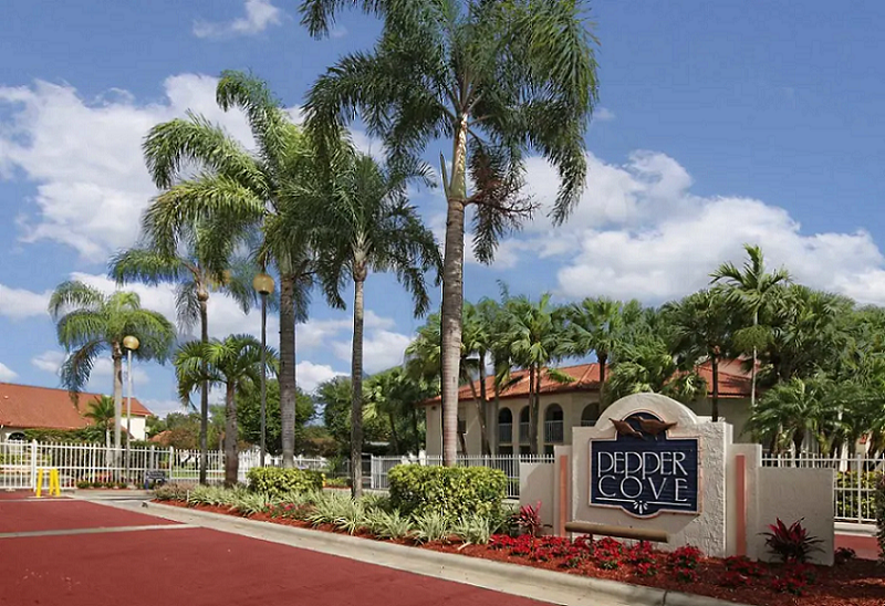 Welcome Signage at Pepper Cove Apartments in Miami, FL