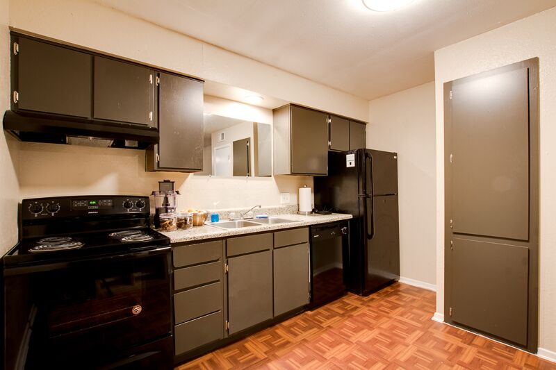 Ample Kitchen Storage at Peppertree Apartments in Odessa, Texas