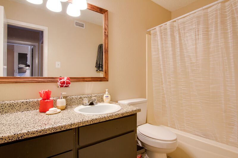Framed Mirrors at Peppertree Apartments in Odessa, Texas