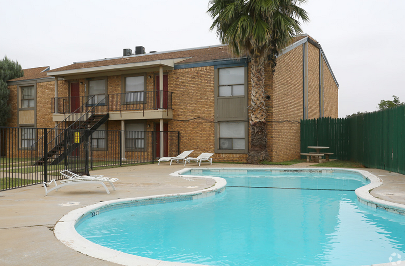 Resort-Style Pool at Peppertree Apartments in Odessa, Texas