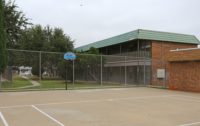 Basketball Court at Peppertree Apartments in Odessa, Texas