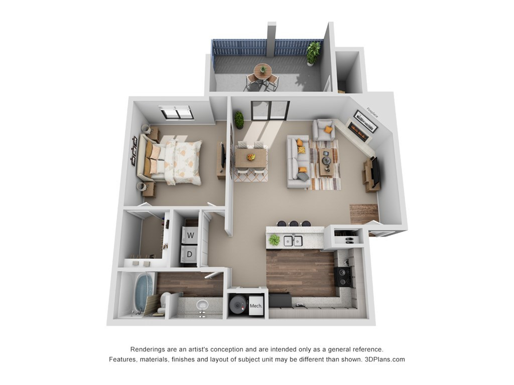 Perry 81 - Floorplan - Maple