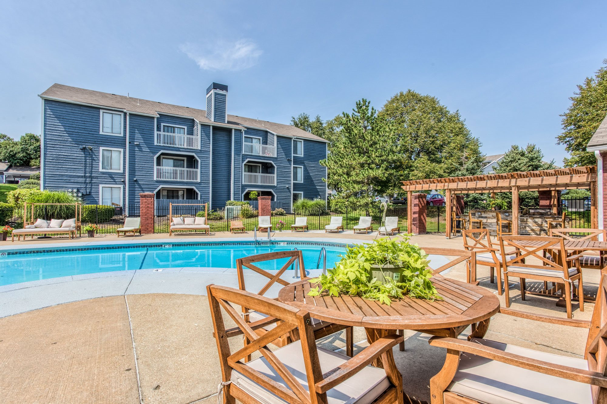 Resort-Style Pool and Deck at Perry 81 Apartments in Overland Park, Kansas