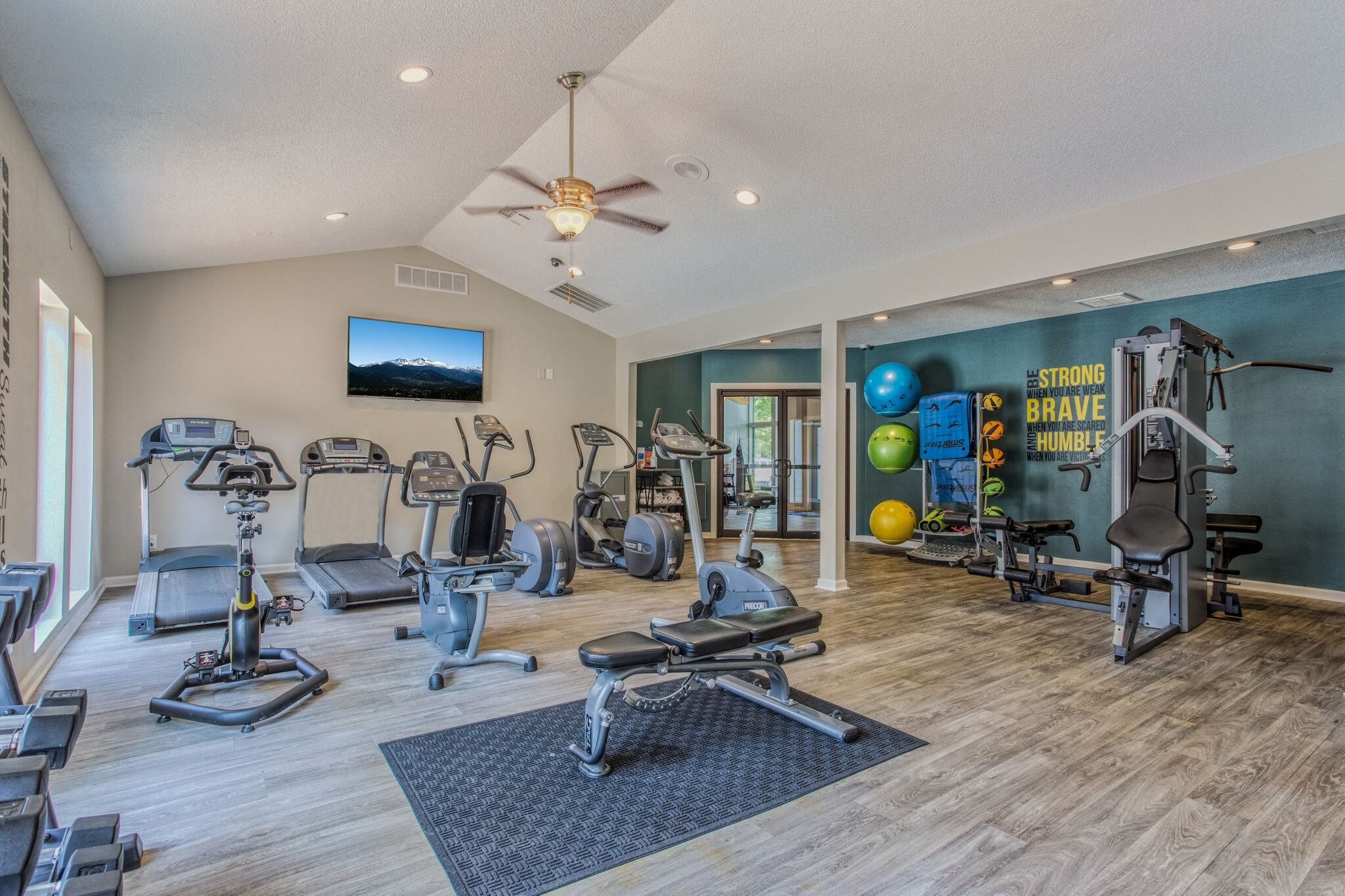 On-Site Fitness Center at Perry 81 Apartments in Overland Park, Kansas