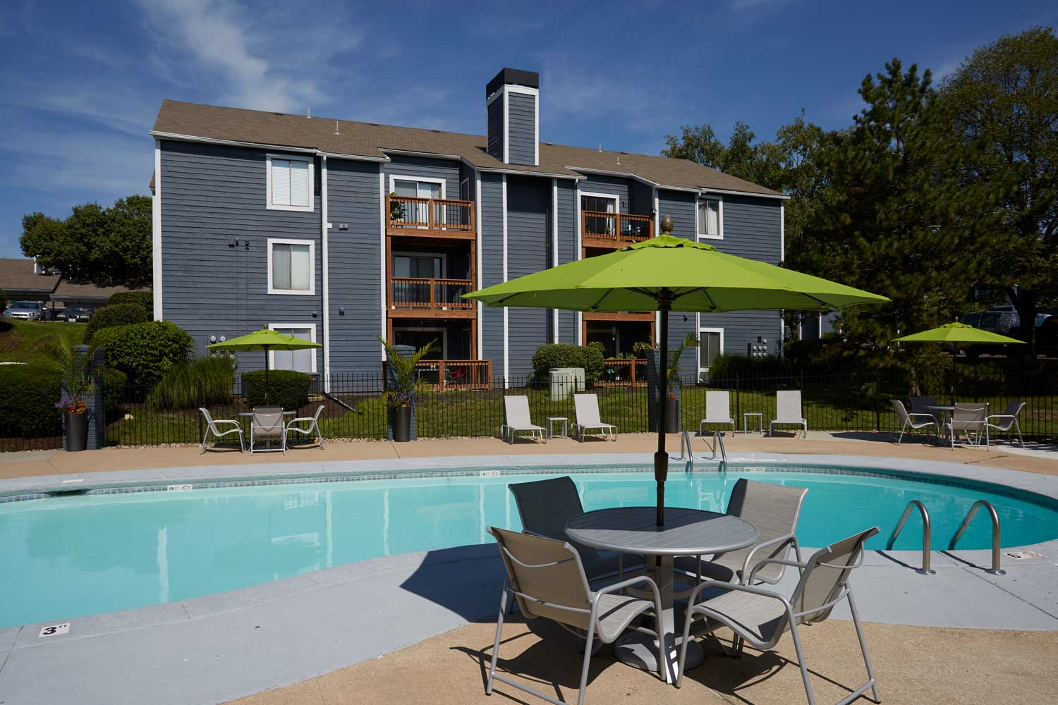 Pool Deck at Perry 81 Apartments in Overland Park, Kansas