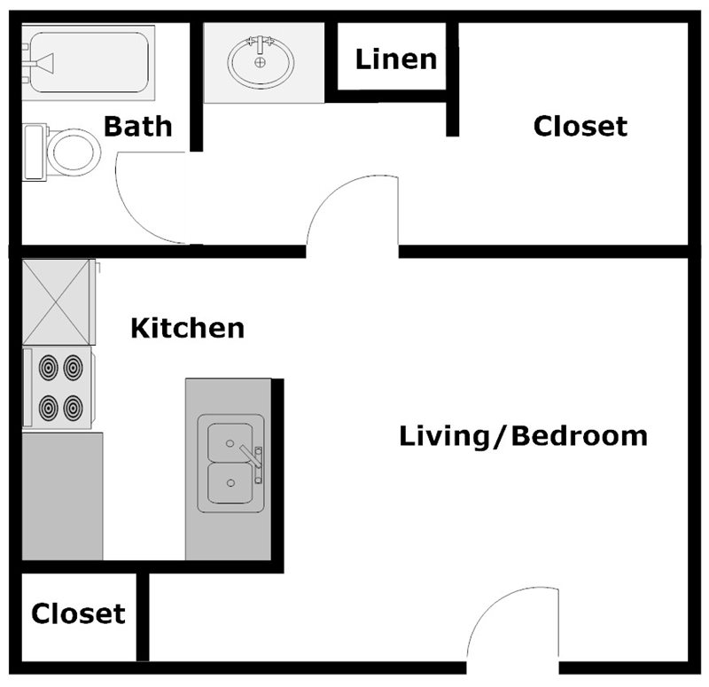 Pine Terrace - Floorplan - Studio