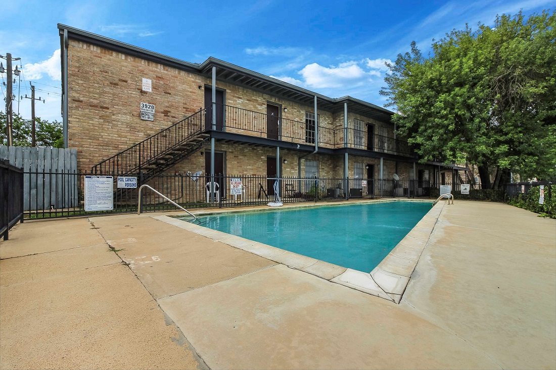 Resort-Style Pool at Pine Terrace Apartments in Houston, Texas