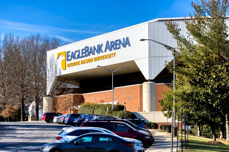 EagleBank Arena is 10 minutes from Pinewood Plaza Apartments in Fairfax, VA
