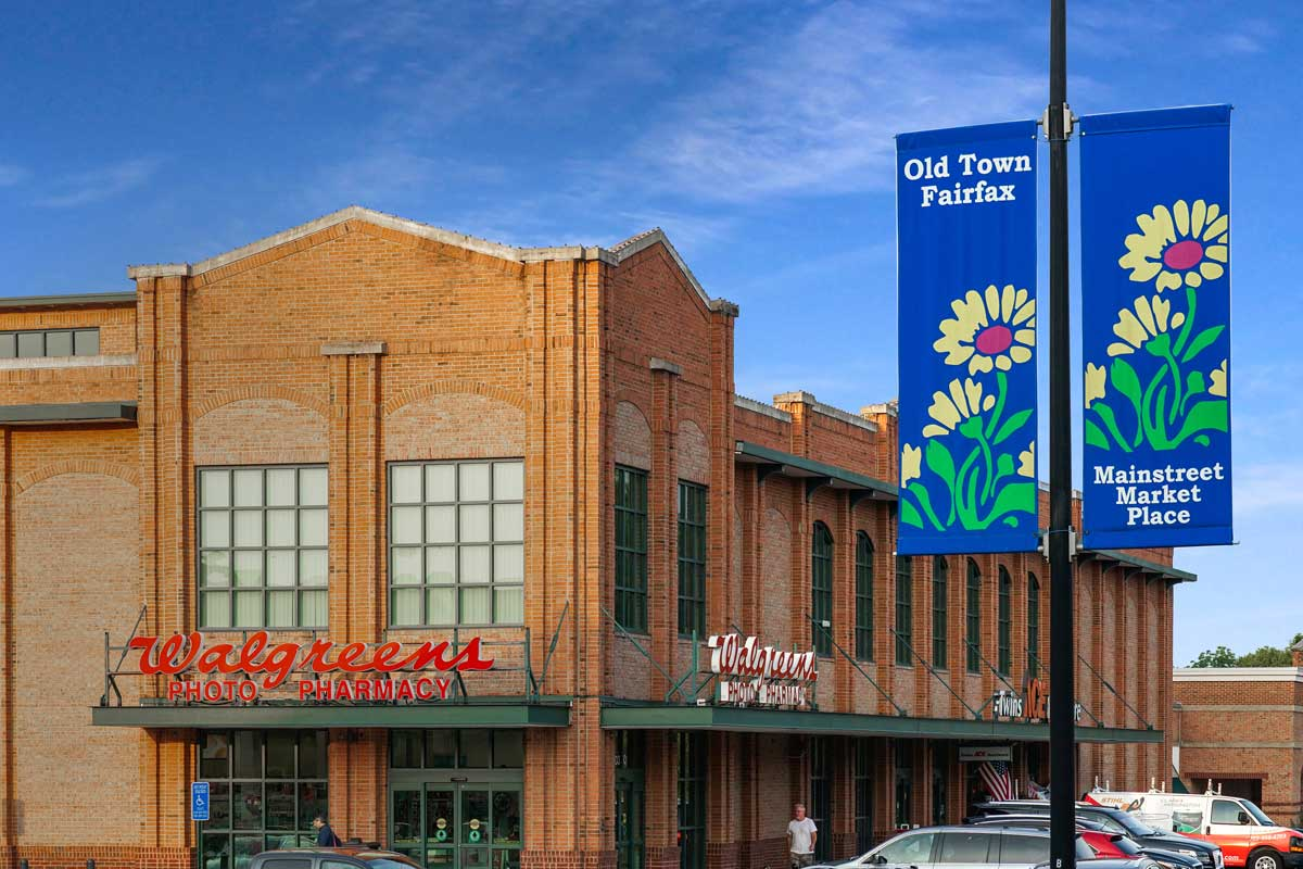 Main Street Marketplace is 5 minutes from Pinewood Plaza Apartments in Fairfax, VA
