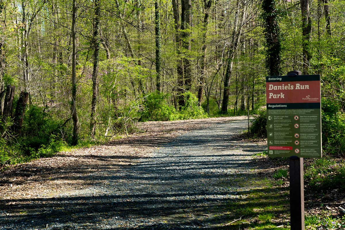 Daniels Run Park is 10 minutes from Pinewood Plaza Apartments in Fairfax, VA