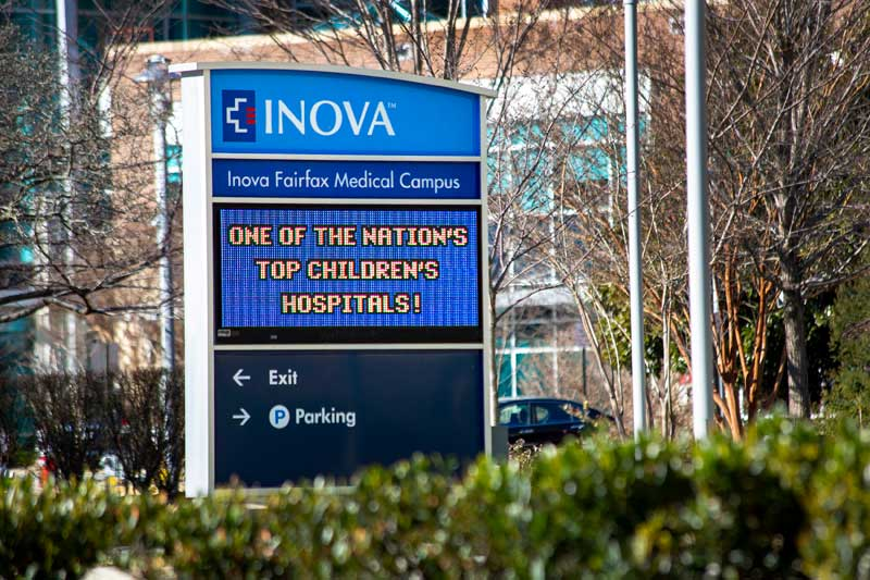 Inova Fairfax Hospital is 10 minutes from Pinewood Plaza Apartments