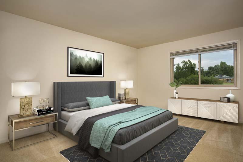 Private bedroom at Pinewood Plaza Apartments in Fairfax, VA