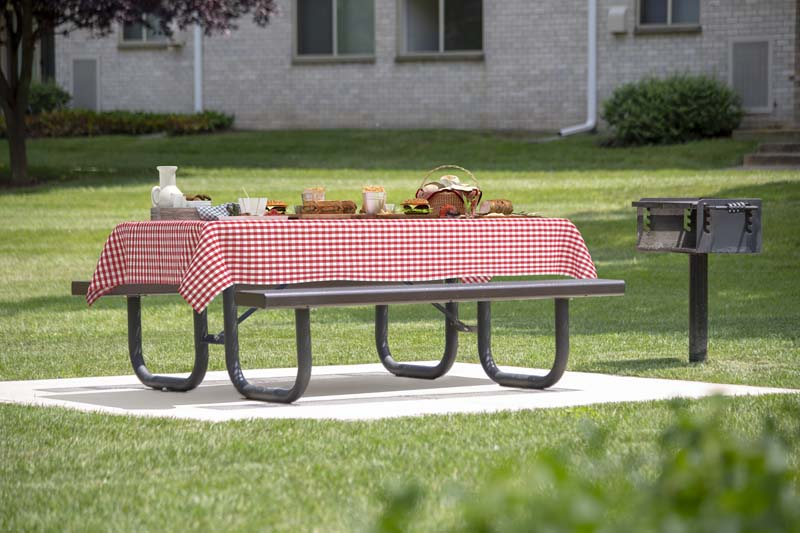 Picnic area with grills at Pinewood Plaza Apartments in Fairfax, VA