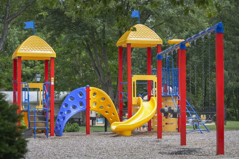 Play area at Pinewood Plaza Apartments in Fairfax, VA
