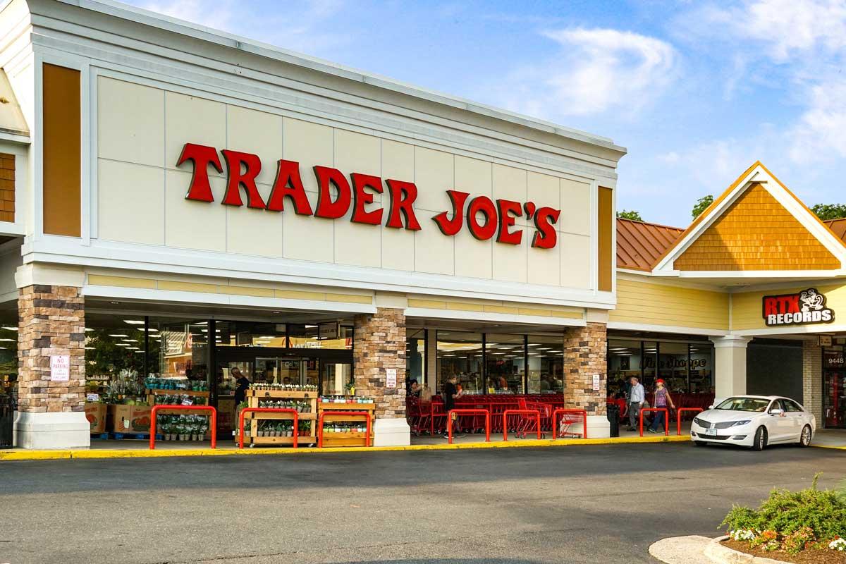 Trader Joe's is 1 block from Pinewood Plaza Apartments in Fairfax, Va