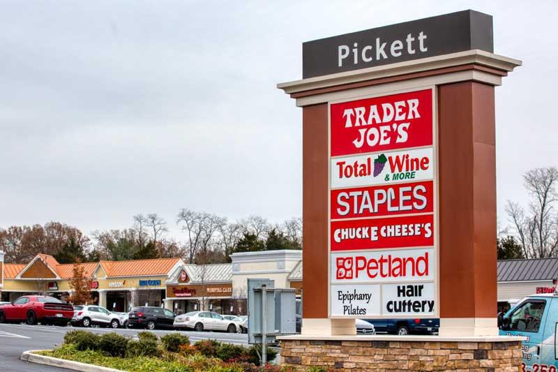1 block to Pickett Shopping Center in Fairfax, Va
