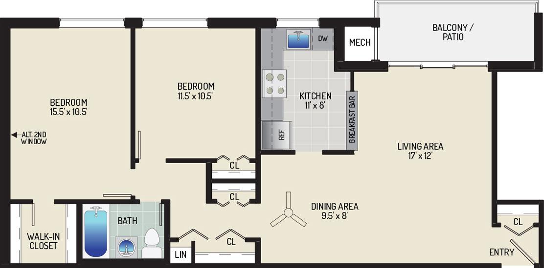 Pinewood Plaza Apartments - Apartment 683963-102-K