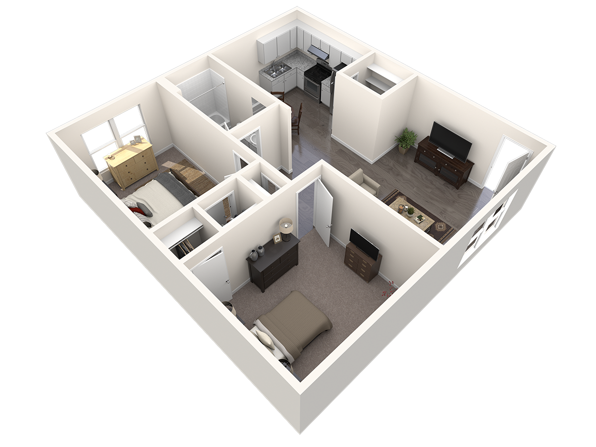 Pointe Ann Apartments - Floorplan - 2 BR