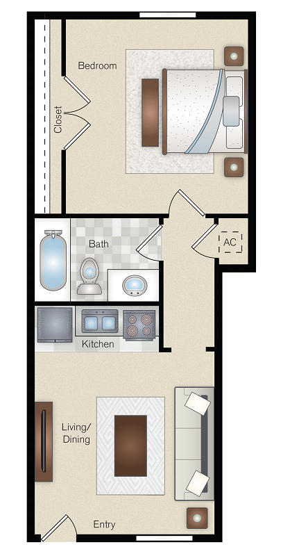 The Point on Redmond - Floorplan -  A