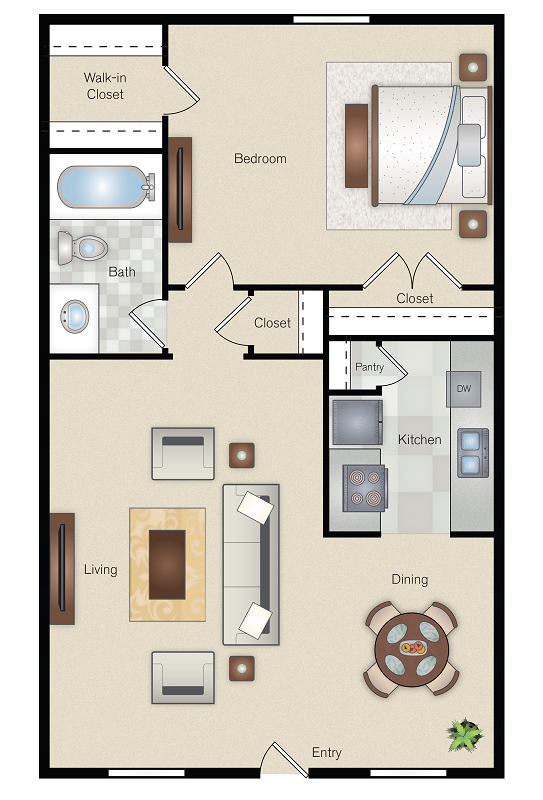 The Point on Redmond - Floorplan - D