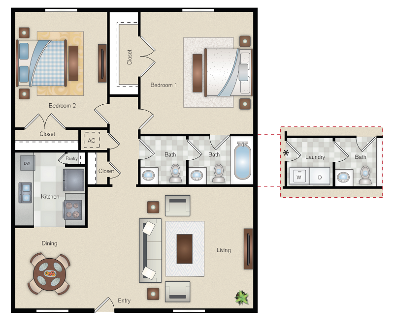 The Point on Redmond - Floorplan - E1