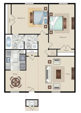 The Point on Redmond - Floorplan - F