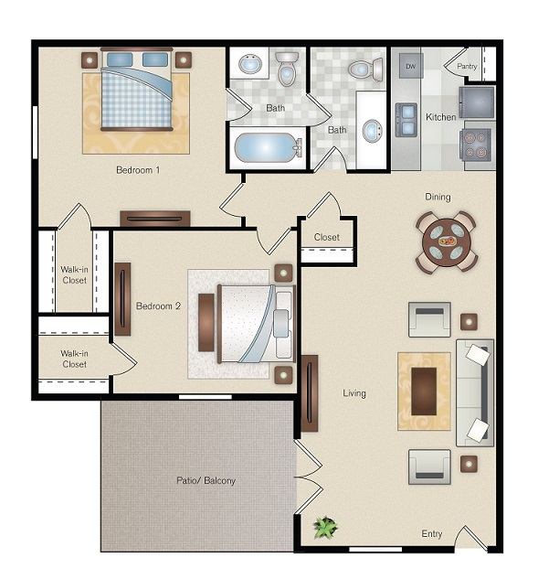 The Point on Redmond - Floorplan - J